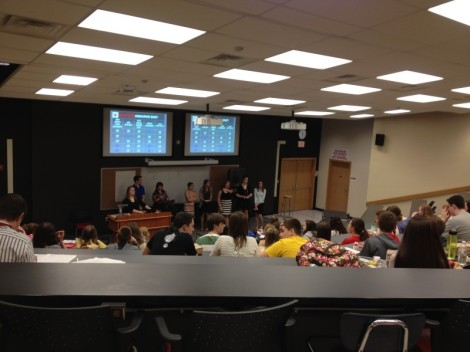 The Baker Red Cross Club got a full audience at their school last Friday for their presentation.