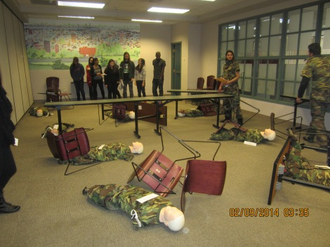 Students learn through simulation activities.