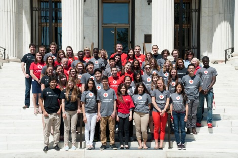 IHL Youth Leadership Summit participants at the American Red Cross, National Headquarters