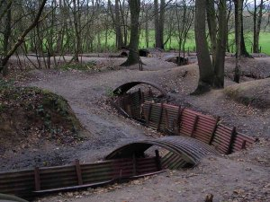 World War I trench at Sanctuary Wood, Belgium.
