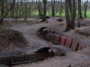 World War I trench at Sanctuary Wood, Belgium.