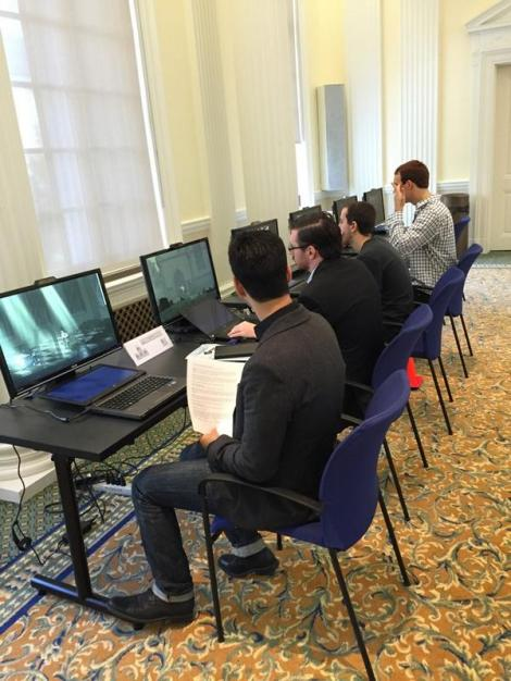 Participants try out Valiant Hearts and Prisoners of War