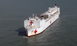 Military Sealift Command Hospital ship USNS Comfort (T-AH 20). (U.S. Navy photo by Mass Communication Specialist 2nd Class Elizabeth R. Allen/Released)