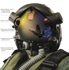 F-35 Helmet Mounted Display System (HMDS). USMC Photo.