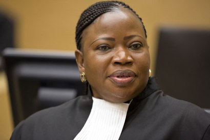 ICC Prosecutor Mrs. Fatou Bensouda, who has been serving since June of 2012.