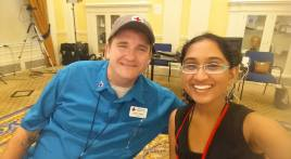 Hetal and Mike Farrar at the 2015 Youth Leadership Summit in Washington, DC