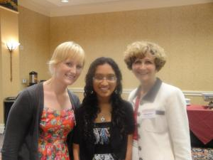 Hetal with two of her Red Cross mentors - Ally Joy, left, and Margaret Arbini-Madonna, right