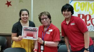 Sarah White, left, with other Red Crossers in the Los Angeles Region