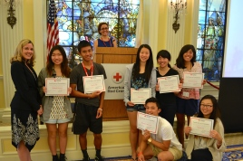 members of North High School's IHL Action Campaign team at the 2015 Youth Leadership Summit