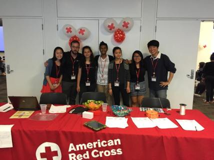 Bayside High School's Red Cross club at the Night for Nepal event